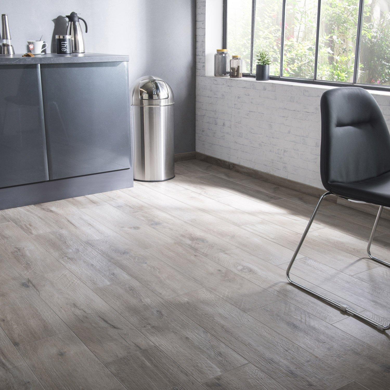 Carrelage sol et mur brun clair aspect bois Heritage l.20 x L.80 cm ...