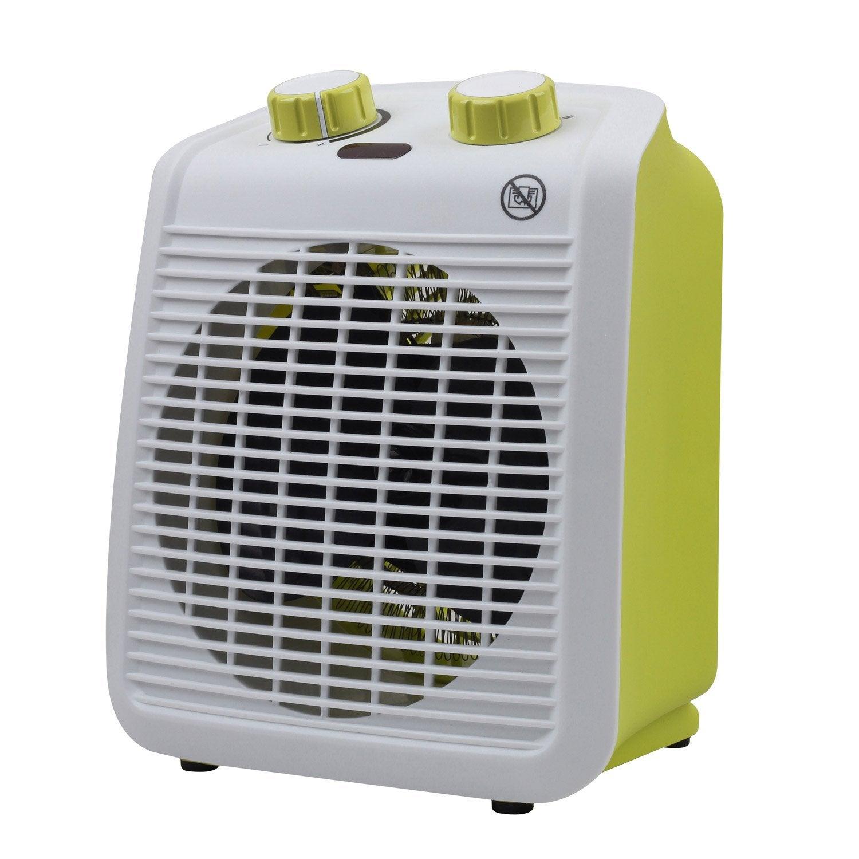 Radiateur soufflant salle de bain mobile électrique vert EQUATION Five 2000  W