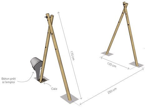Diy r aliser un tendoir tipi leroy merlin for Etendoir linge exterieur leroy merlin