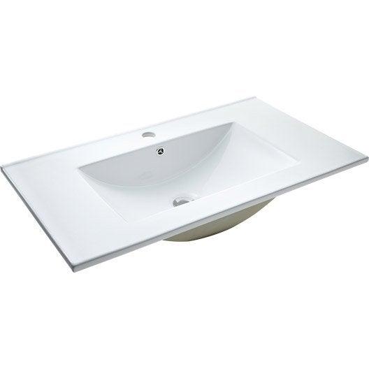 Lavabo vasque et plan vasque meuble de salle de bains - Vasque salle de bain encastrable ...
