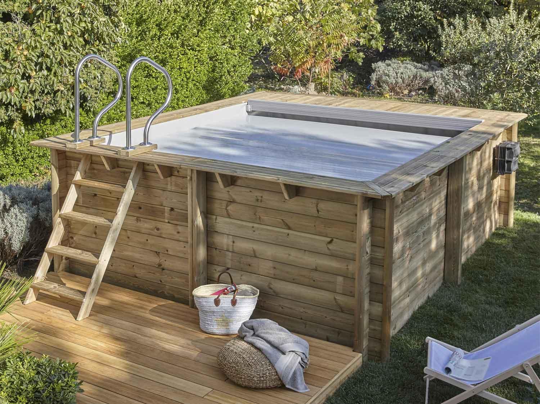 douche solaire et socle droite aluminium imitation bois 32 l leroy merlin. Black Bedroom Furniture Sets. Home Design Ideas