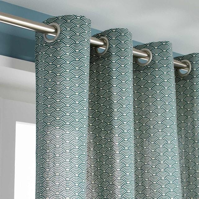 Un rideau vert d 39 eau pour une ambiance v g tale leroy merlin - Rideau venitien leroy merlin ...