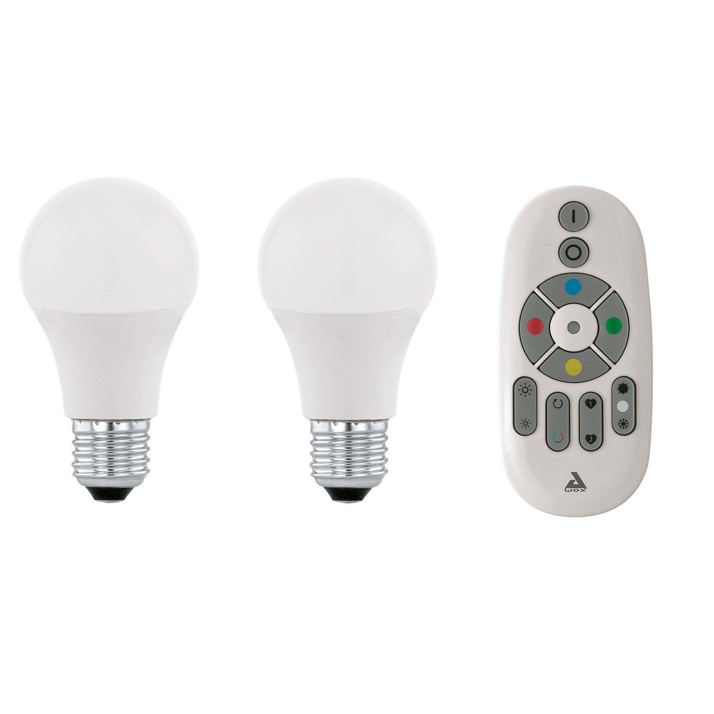 Kit 2 Ampoules Connect E E27 Changement De Couleur T L Commande
