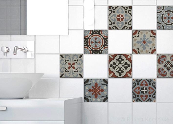 Stickers adhésifs carrelage mur Ozzano 10 cm x 10 cm