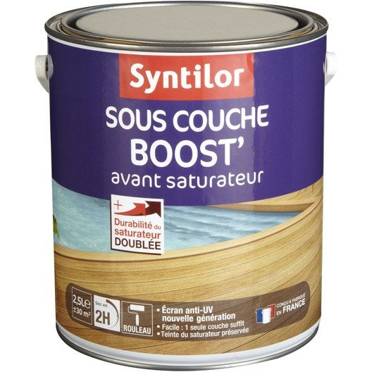 Sous couche saturateur bois Boost' SYNTILOR, incolore, aspect mat, 2.5