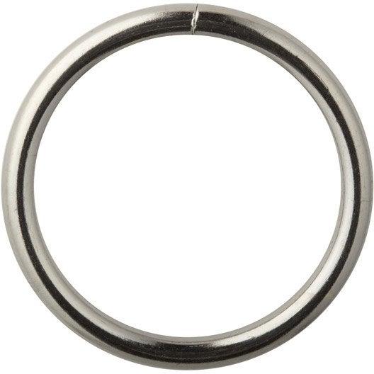 Anneaux tringle rideau city 20 mm acier chrom inspire leroy merlin - Tringle a rideau cable acier ...