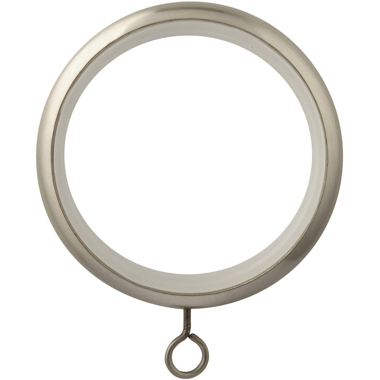 Anneaux tringle rideau chic 28 mm acier chrom inspire leroy merlin - Tringle a rideau cable acier ...